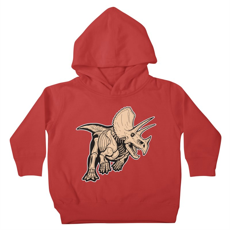 Triceratops Kids Toddler Pullover Hoody by Crab Saw Apparel