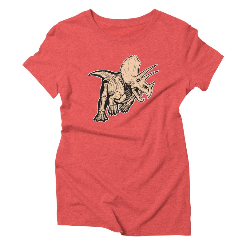 Triceratops Women's Triblend T-Shirt by Crab Saw Apparel