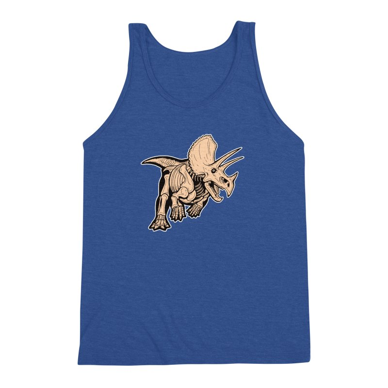 Triceratops Men's Triblend Tank by Crab Saw Apparel