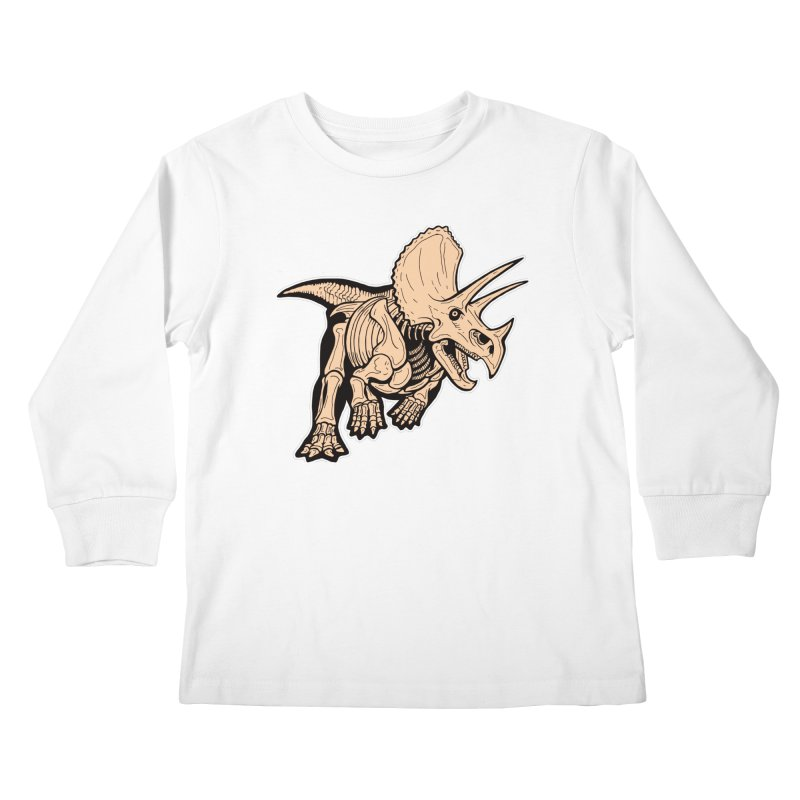 Triceratops Kids Longsleeve T-Shirt by Crab Saw Apparel