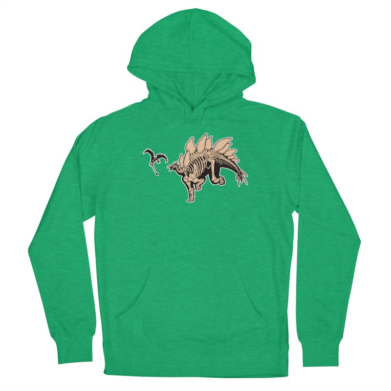 Stegosaurus Women's French Terry Pullover Hoody by Crab Saw Apparel