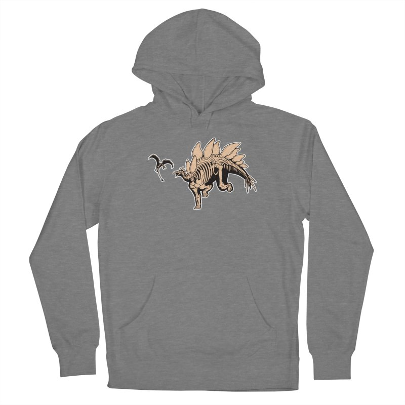 Stegosaurus Men's French Terry Pullover Hoody by Crab Saw Apparel