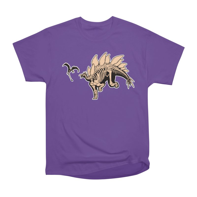 Stegosaurus Men's Heavyweight T-Shirt by Crab Saw Apparel