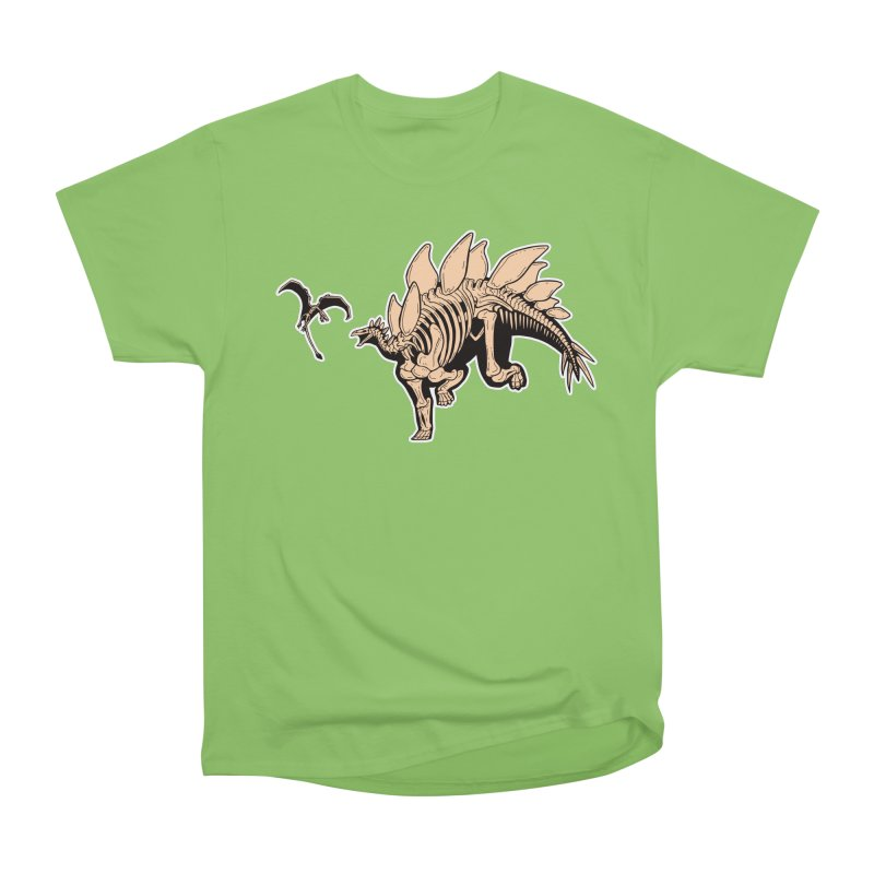 Stegosaurus Men's Heavyweight T-Shirt by Crab Saw Apparel