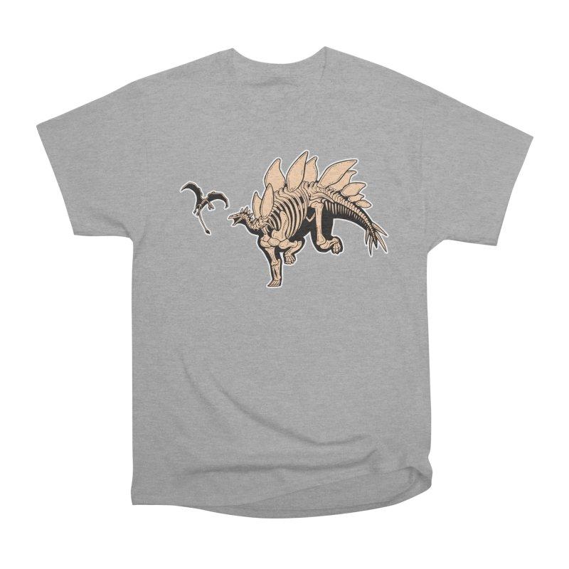 Stegosaurus Women's Heavyweight Unisex T-Shirt by Crab Saw Apparel