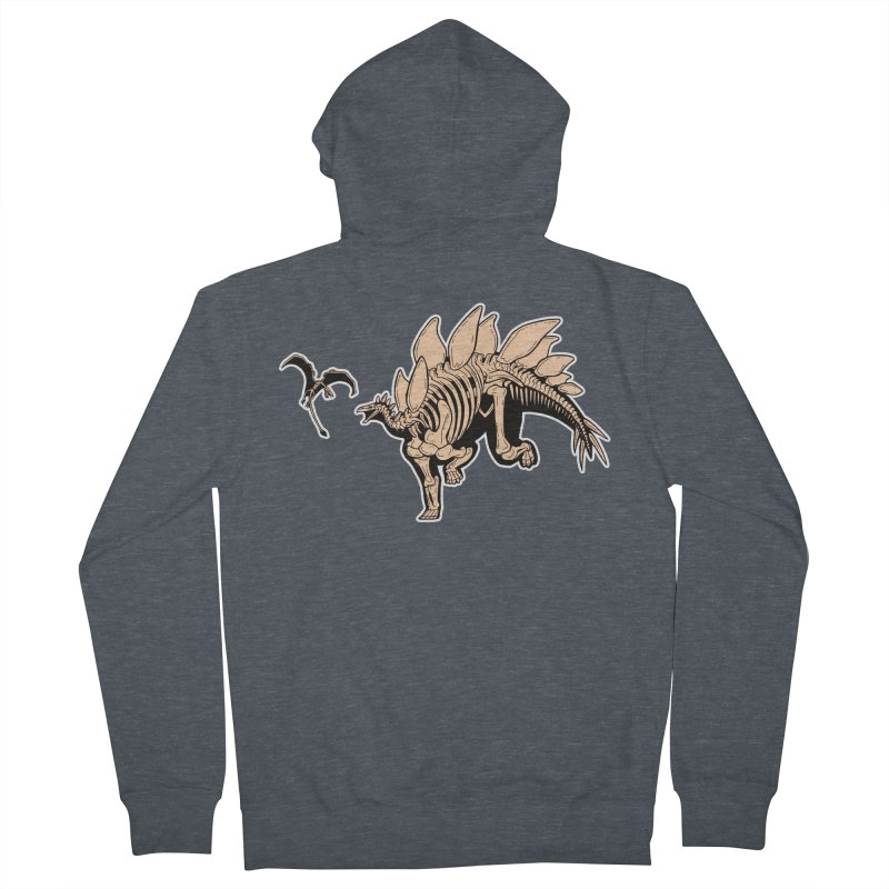Stegosaurus Women's French Terry Zip-Up Hoody by Crab Saw Apparel
