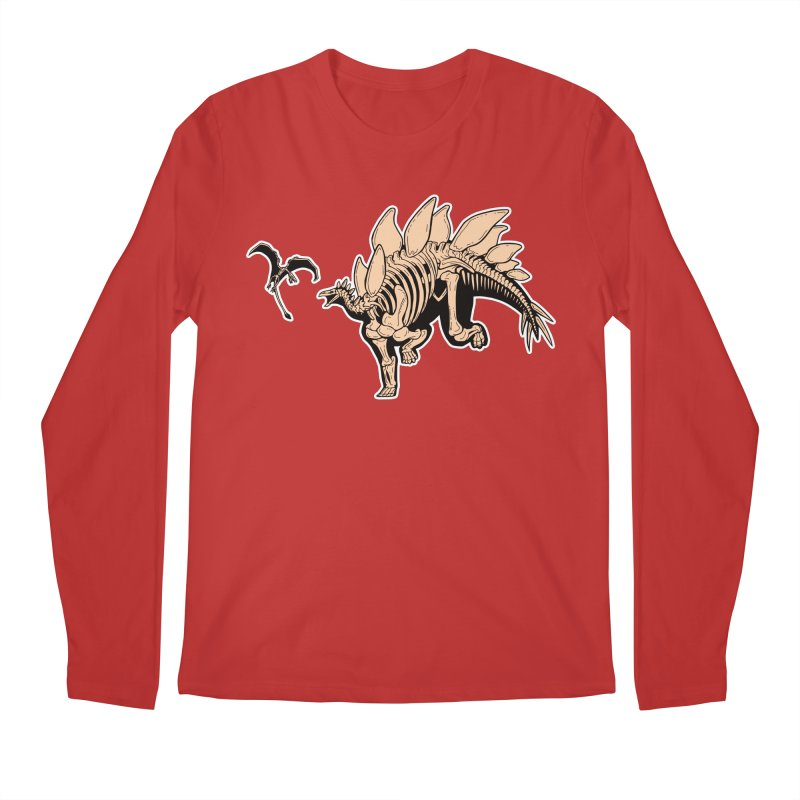 Stegosaurus Men's Regular Longsleeve T-Shirt by Crab Saw Apparel