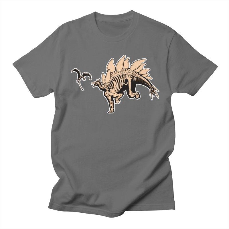 Stegosaurus in Men's Regular T-Shirt Asphalt by Crab Saw Apparel