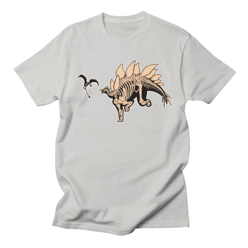 Stegosaurus Men's Regular T-Shirt by Crab Saw Apparel