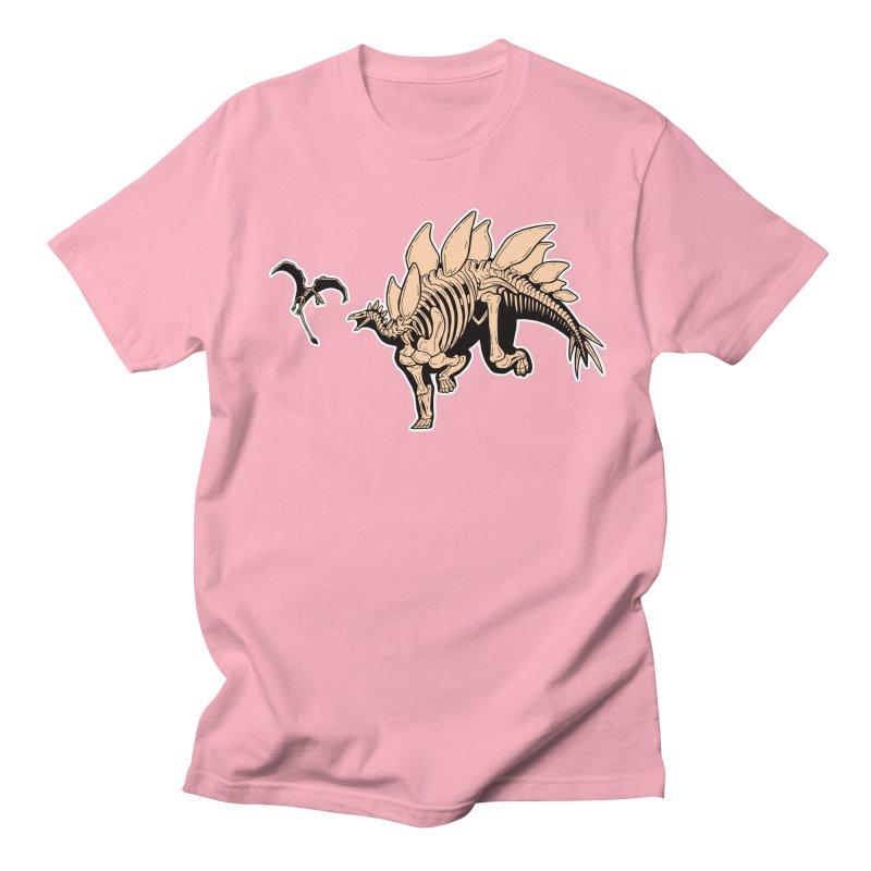 Stegosaurus Men's Regular T-Shirt by Crab Saw Apparel