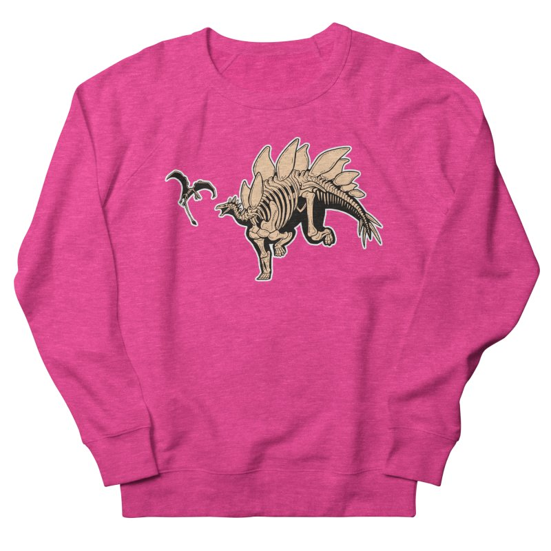 Stegosaurus Women's French Terry Sweatshirt by Crab Saw Apparel