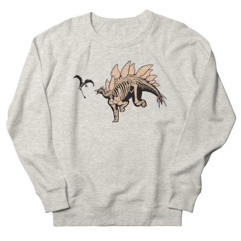 Stegosaurus Men's French Terry Sweatshirt by Crab Saw Apparel