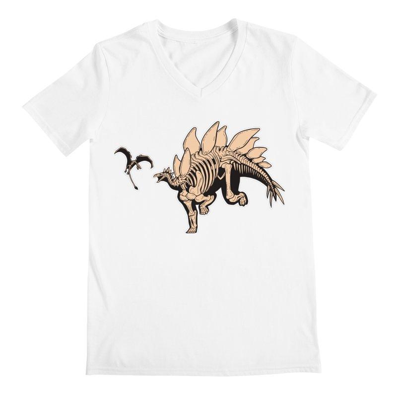 Stegosaurus Men's V-Neck by Crab Saw Apparel