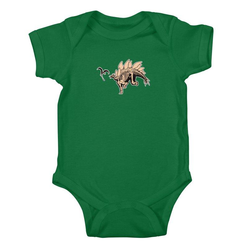 Stegosaurus Kids Baby Bodysuit by Crab Saw Apparel