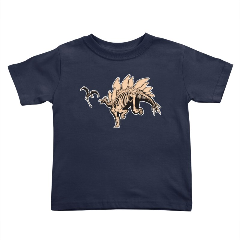 Stegosaurus Kids Toddler T-Shirt by Crab Saw Apparel