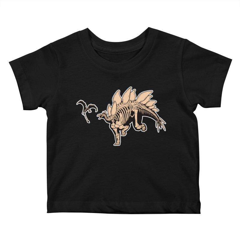 Stegosaurus Kids Baby T-Shirt by Crab Saw Apparel