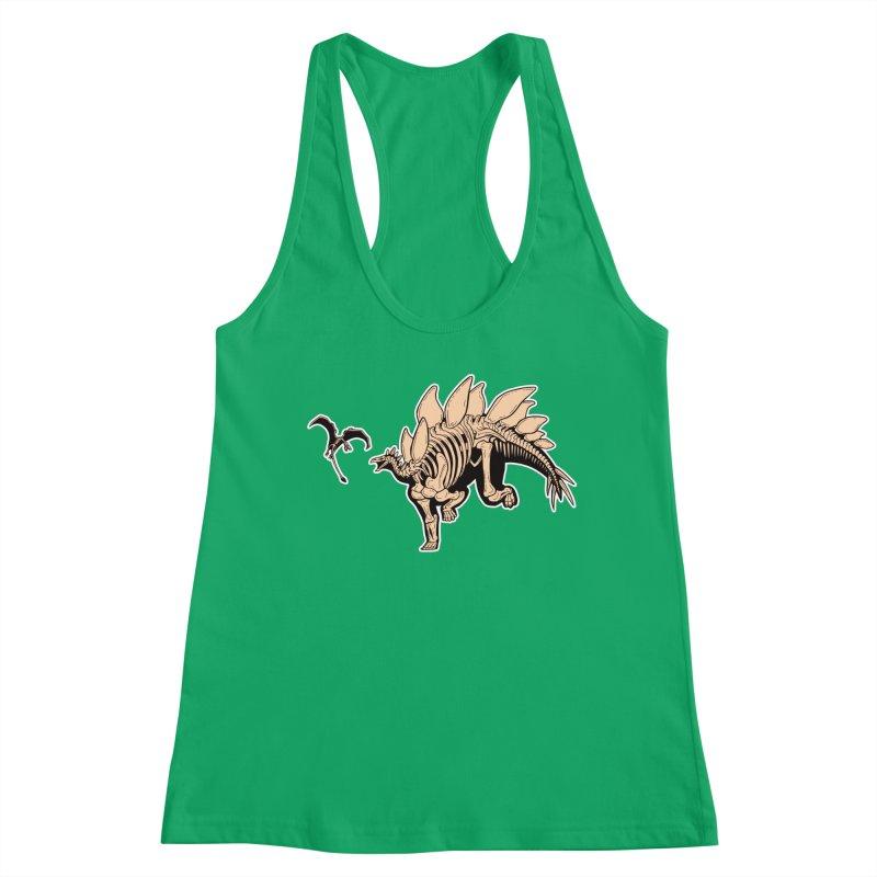 Stegosaurus Women's Racerback Tank by Crab Saw Apparel
