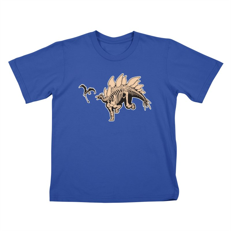 Stegosaurus Kids T-Shirt by Crab Saw Apparel