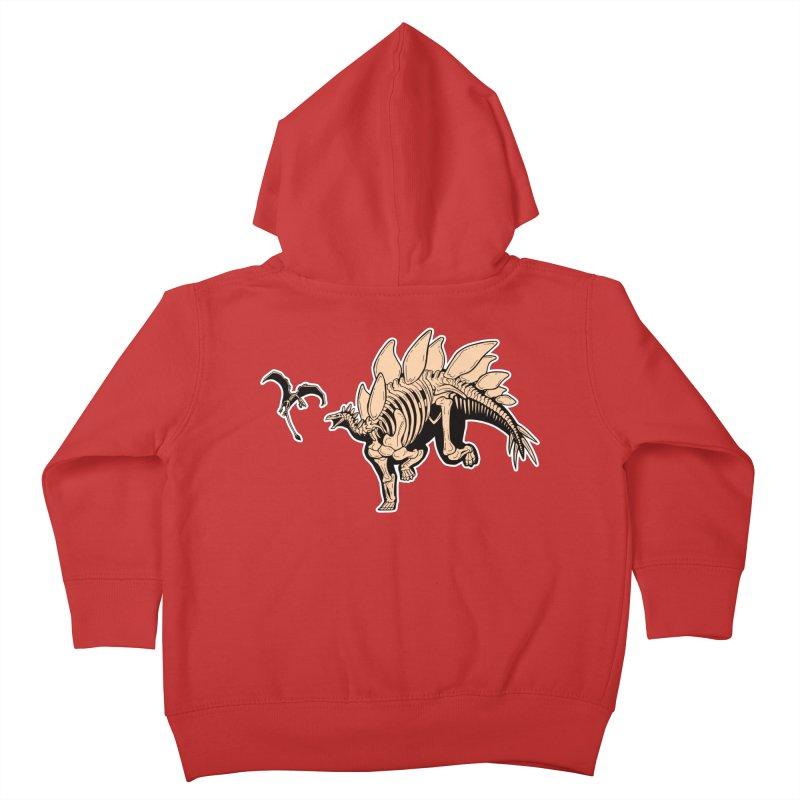 Stegosaurus Kids Toddler Zip-Up Hoody by Crab Saw Apparel