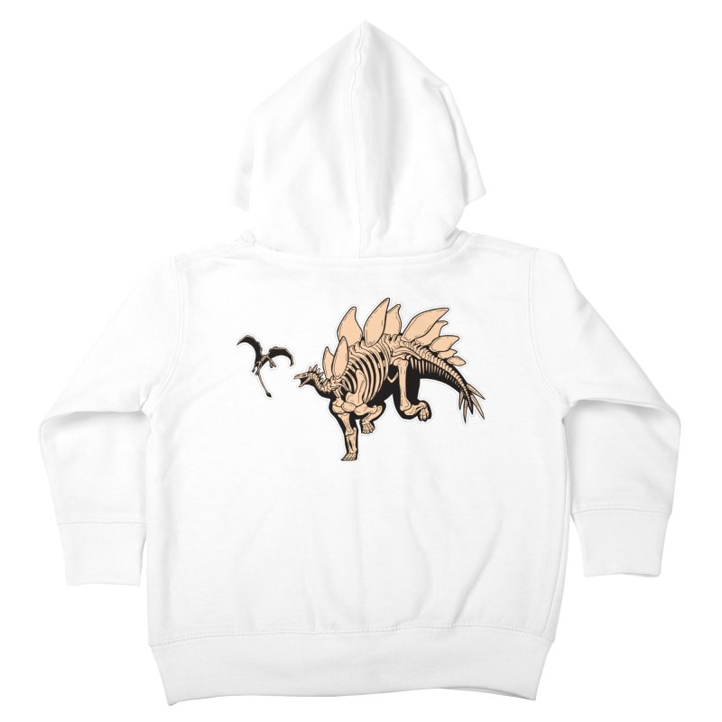Stegosaurus Kids Toddler Zip-Up Hoody by Crab Saw Apparel