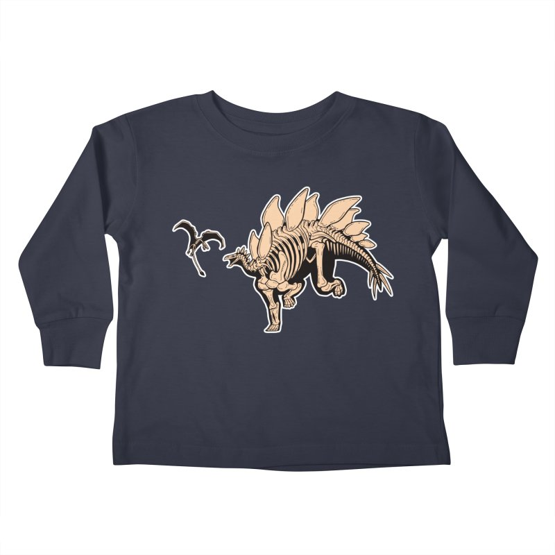 Stegosaurus Kids Toddler Longsleeve T-Shirt by Crab Saw Apparel
