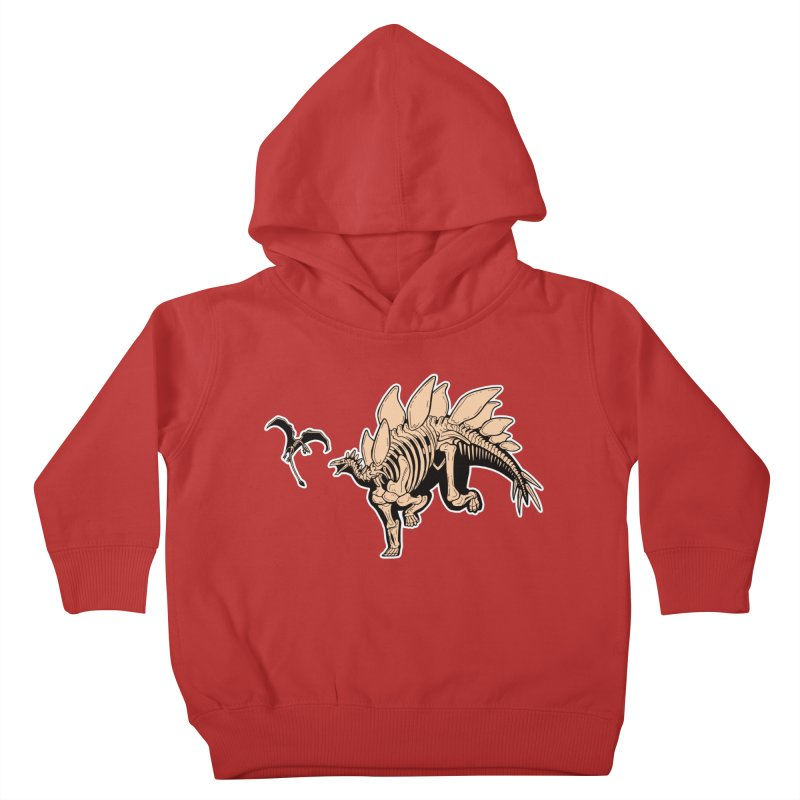 Stegosaurus Kids Toddler Pullover Hoody by Crab Saw Apparel