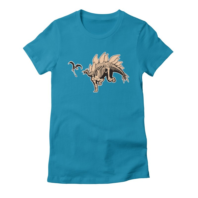 Stegosaurus Women's Fitted T-Shirt by Crab Saw Apparel
