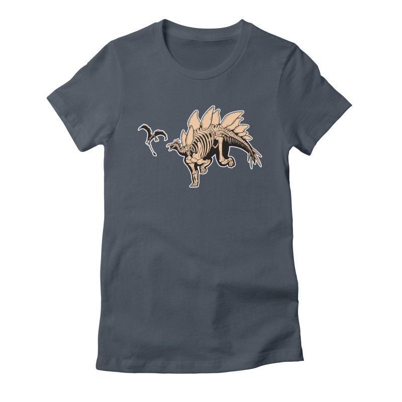 Stegosaurus Women's T-Shirt by Crab Saw Apparel