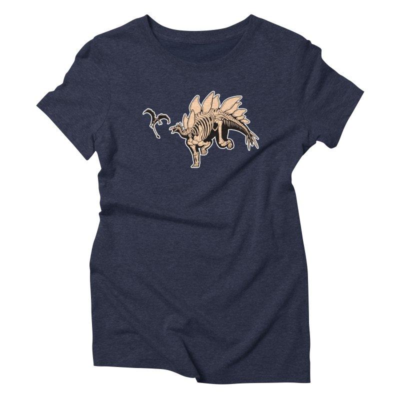 Stegosaurus Women's Triblend T-Shirt by Crab Saw Apparel