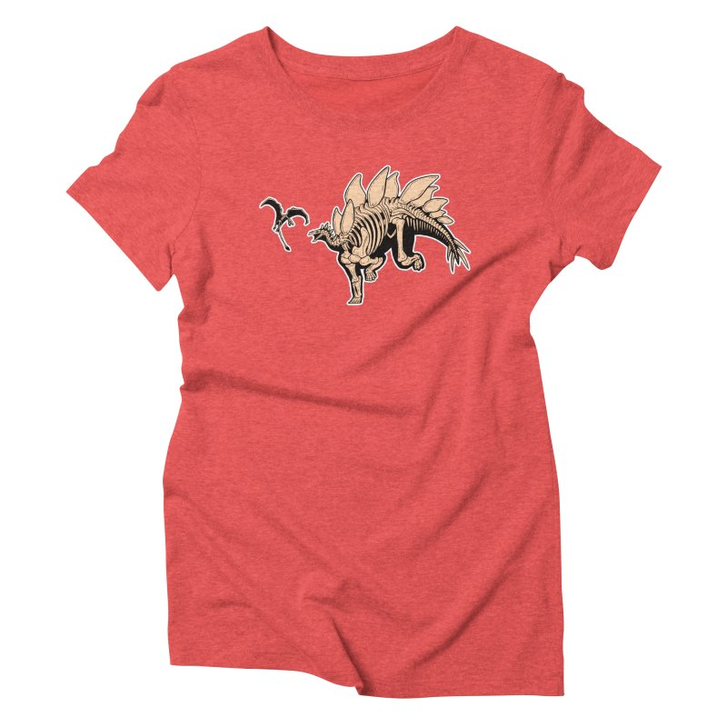 Stegosaurus Women's Triblend T-Shirt by Crab Saw Apparel