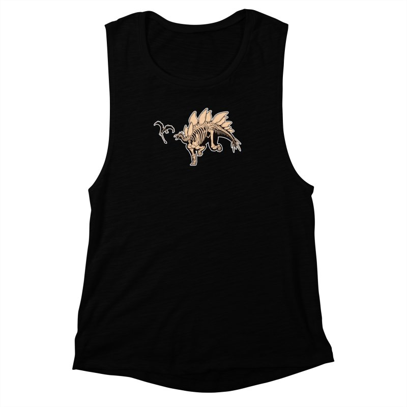 Stegosaurus Women's Muscle Tank by Crab Saw Apparel