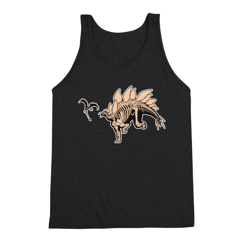 Stegosaurus Men's Triblend Tank by Crab Saw Apparel