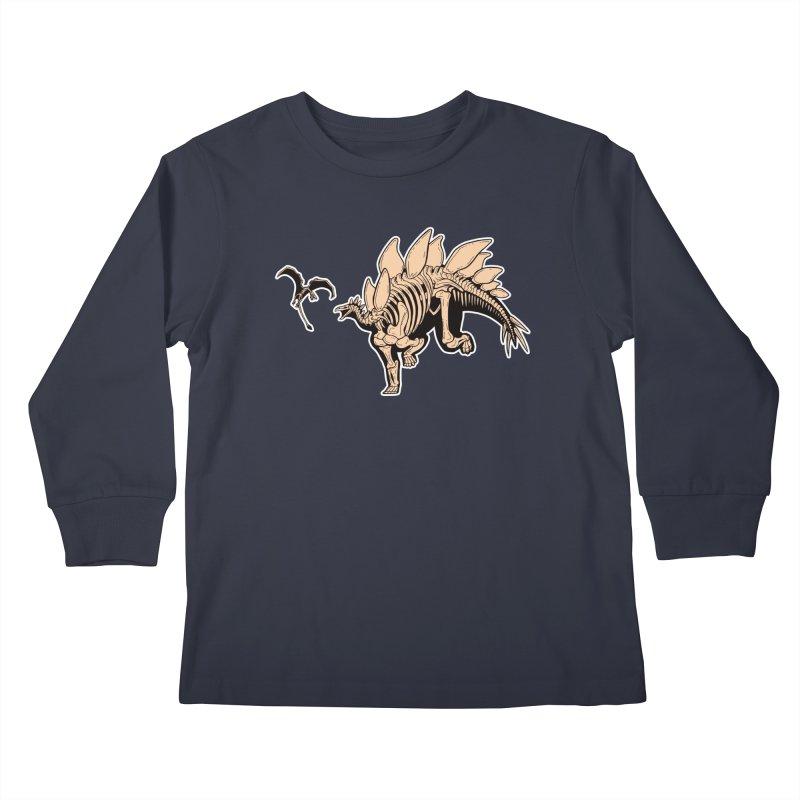 Stegosaurus Kids Longsleeve T-Shirt by Crab Saw Apparel