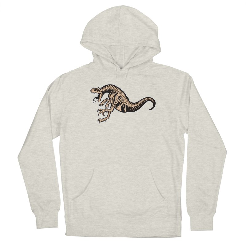 Allosaurus Men's French Terry Pullover Hoody by Crab Saw Apparel