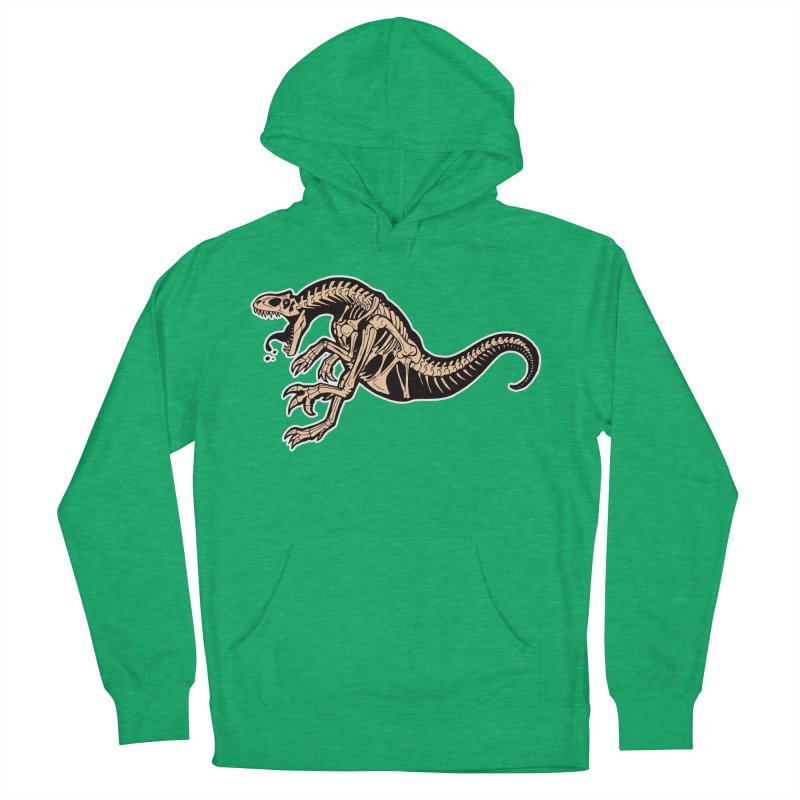 Allosaurus Women's French Terry Pullover Hoody by Crab Saw Apparel