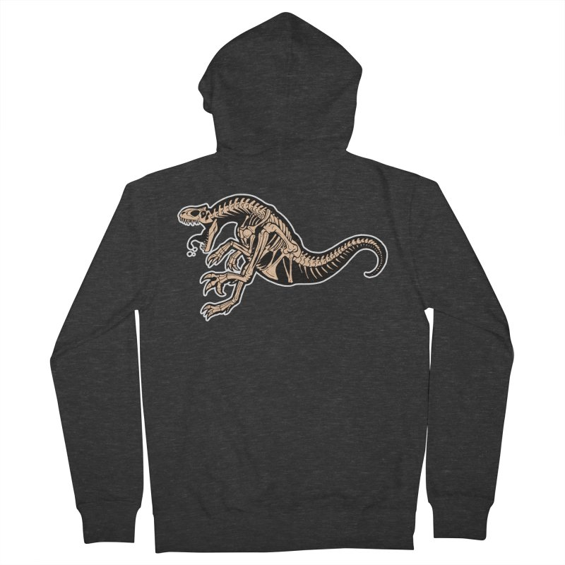 Allosaurus Men's French Terry Zip-Up Hoody by Crab Saw Apparel