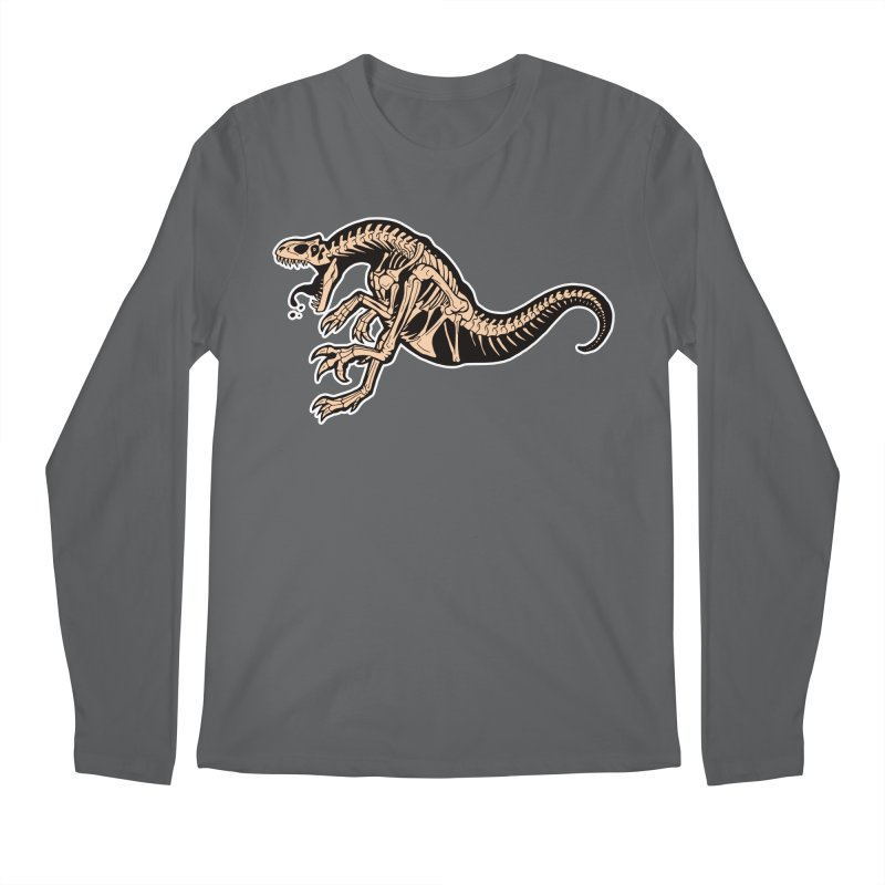 Allosaurus Men's Regular Longsleeve T-Shirt by Crab Saw Apparel