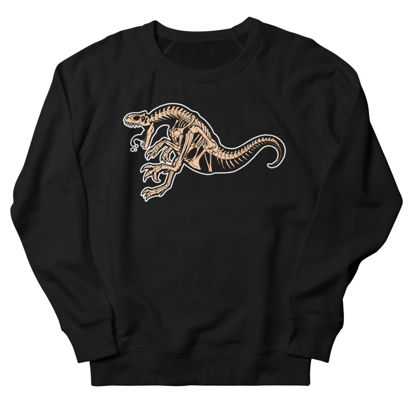 Allosaurus Women's French Terry Sweatshirt by Crab Saw Apparel