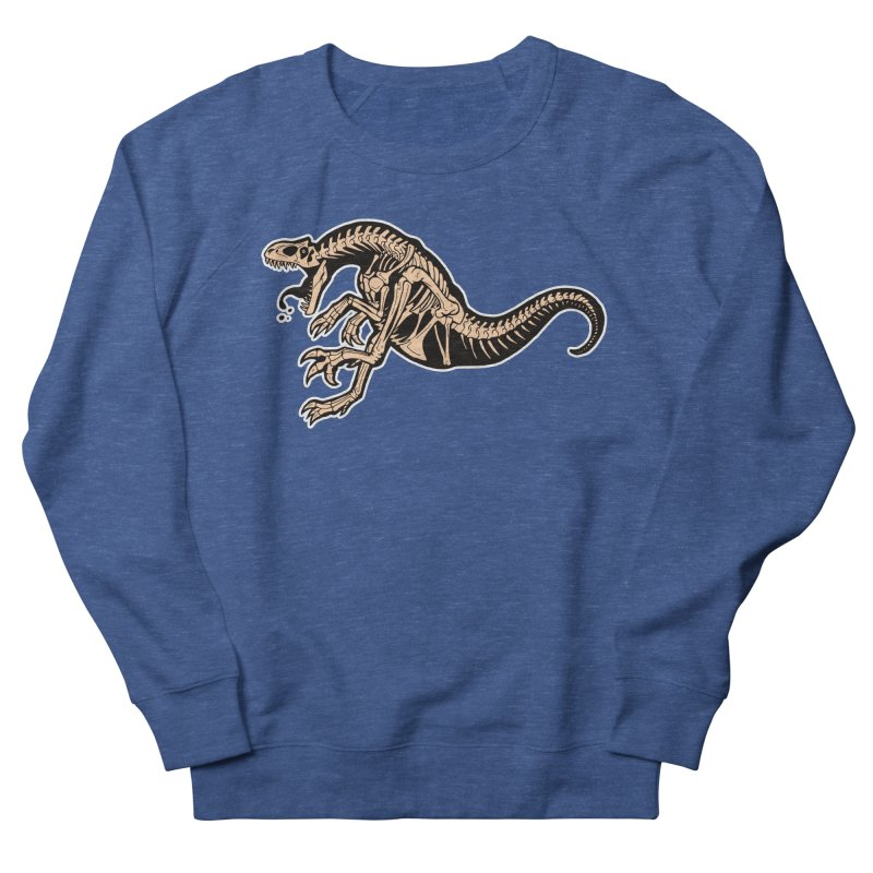 Allosaurus Men's French Terry Sweatshirt by Crab Saw Apparel