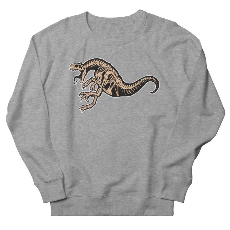 Allosaurus Men's French Terry Sweatshirt by Crab Saw Apparel