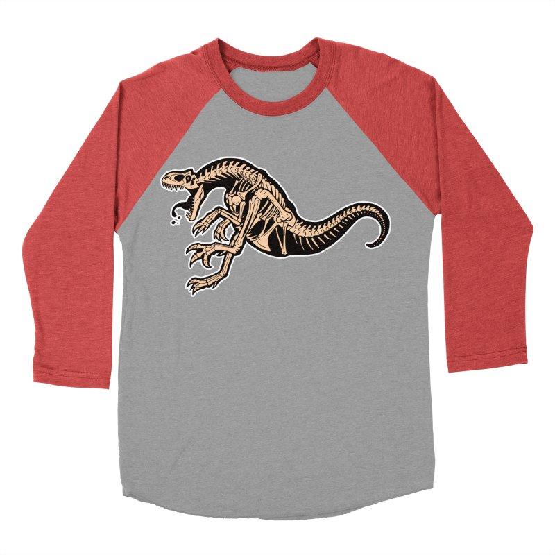 Allosaurus Women's Baseball Triblend Longsleeve T-Shirt by Crab Saw Apparel