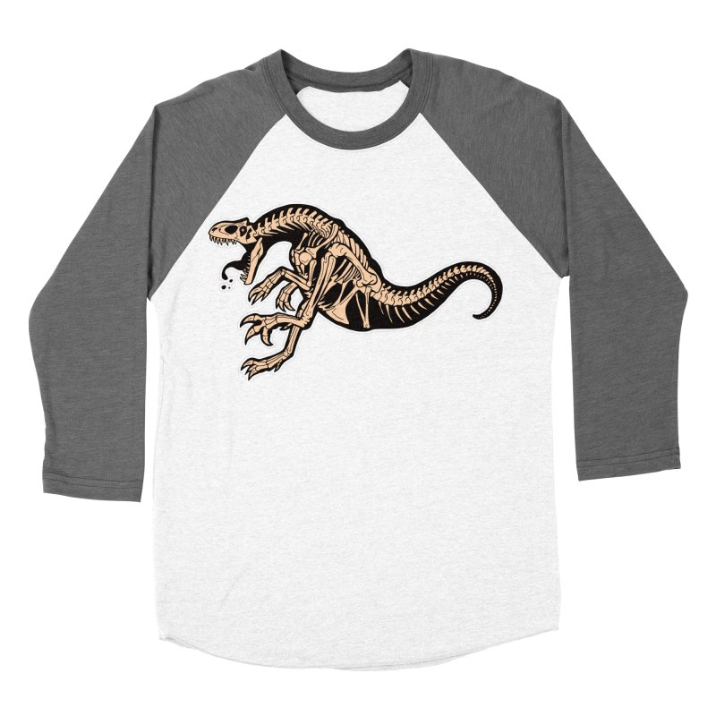 Allosaurus Men's Baseball Triblend Longsleeve T-Shirt by Crab Saw Apparel