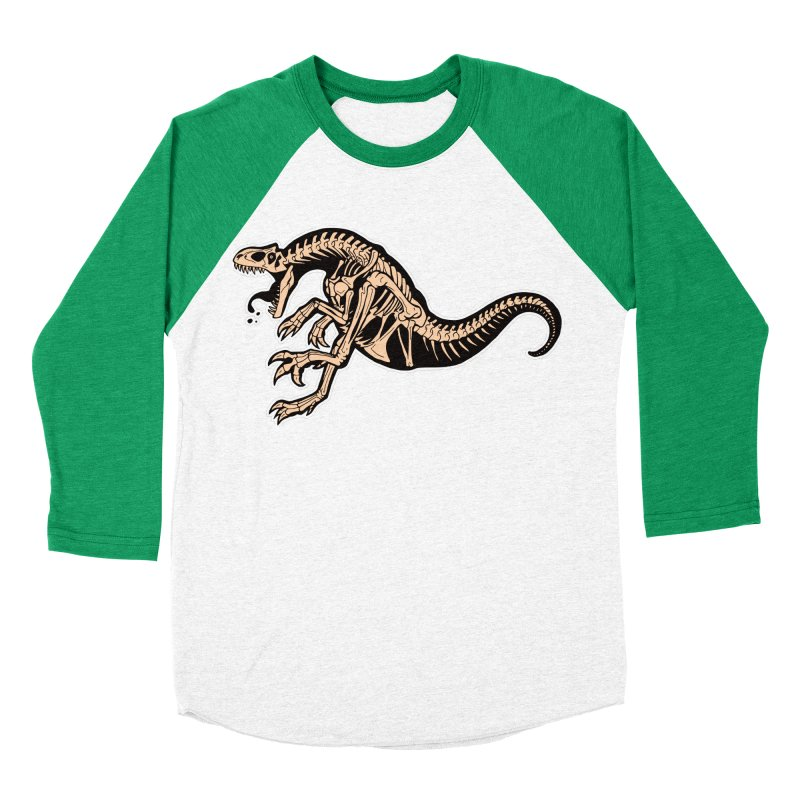 Allosaurus Men's Baseball Triblend Longsleeve T-Shirt by Crab Saw Apparel