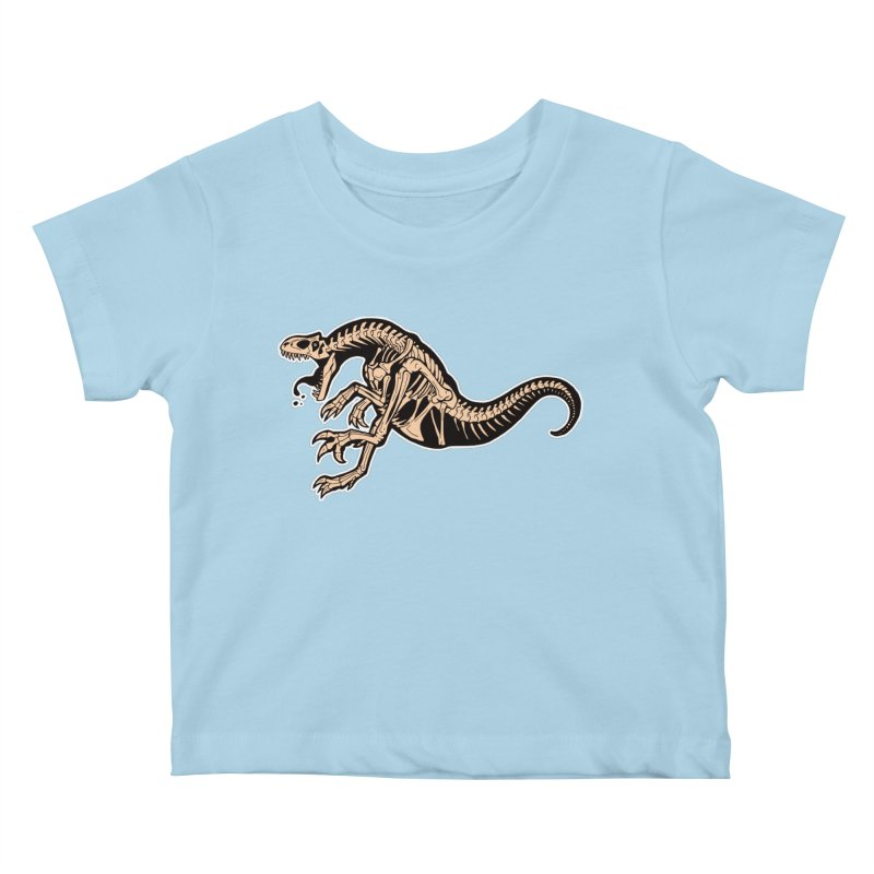 Allosaurus Kids Baby T-Shirt by Crab Saw Apparel