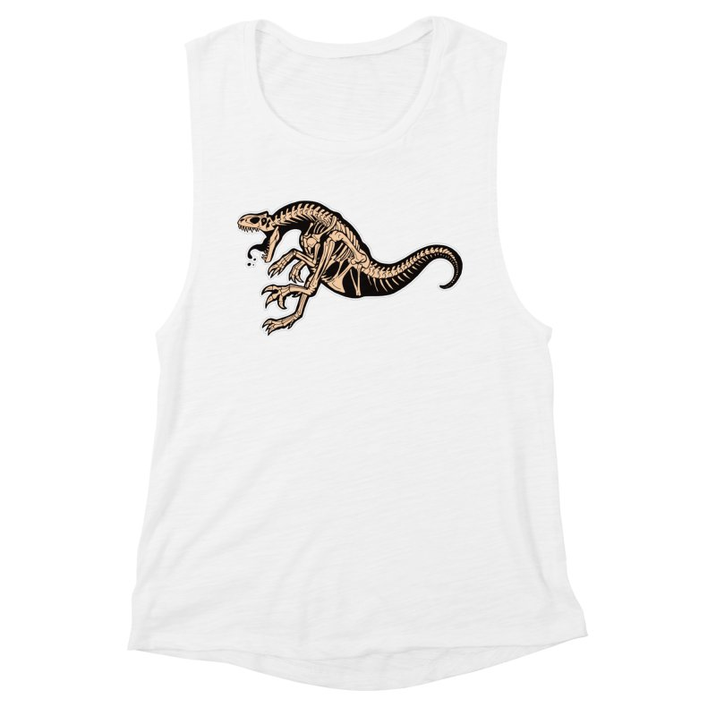 Allosaurus Women's Muscle Tank by Crab Saw Apparel