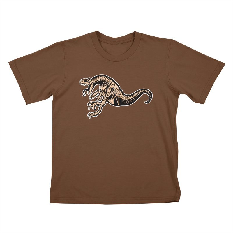 Allosaurus Kids T-Shirt by Crab Saw Apparel