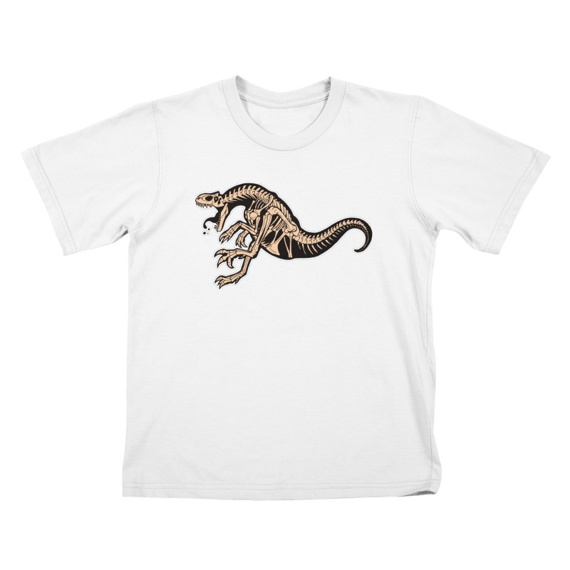 Allosaurus Kids T-Shirt by Crab Saw Apparel