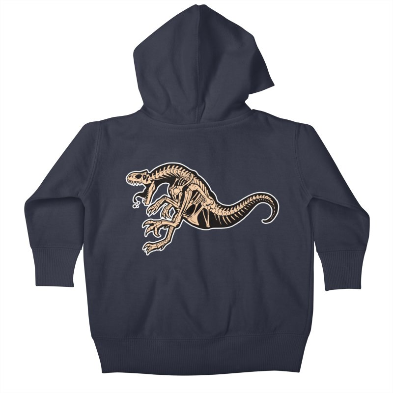 Allosaurus Kids Baby Zip-Up Hoody by Crab Saw Apparel