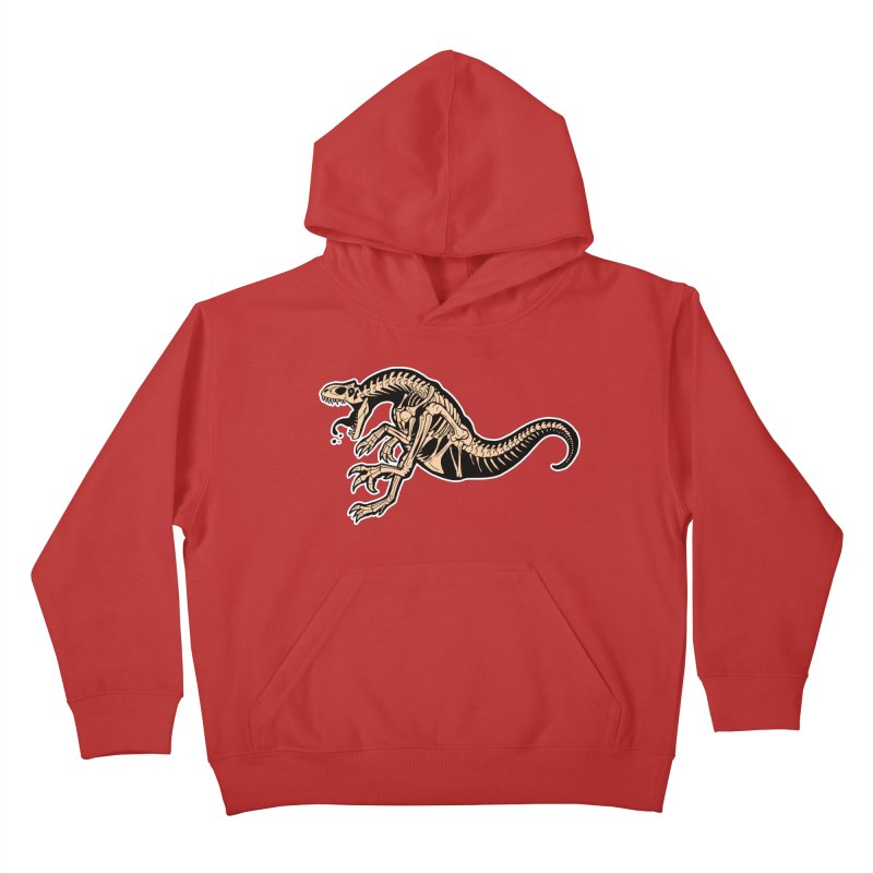 Allosaurus Kids Pullover Hoody by Crab Saw Apparel
