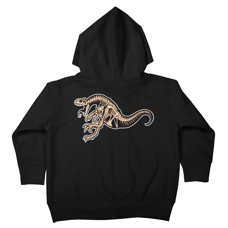Allosaurus Kids Toddler Zip-Up Hoody by Crab Saw Apparel